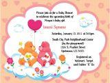 Care Bear Baby Shower Invitations Care Bears Invitations Baby Shower or Birthday by
