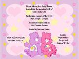 Care Bear Baby Shower Invitations Items Similar to Care Bears Invitations Baby Shower or