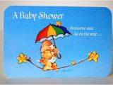 Care Bear Baby Shower Invitations Vintage Care Bear Rainbow Baby Shower Invitations Set Of 4