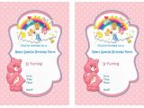 Care Bears Birthday Party Invitations Care Bears Birthday Invitations Birthday Printable