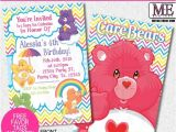 Care Bears Birthday Party Invitations Care Bears Birthday Invitations by Metro Designs Graphic