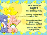 Care Bears Birthday Party Invitations Care Bears Birthday Invitations General Prints