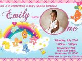 Care Bears Birthday Party Invitations Personalized Photo Invitations Cmartistry Care Bears