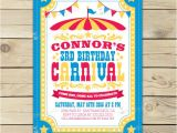 Carnival 1st Birthday Invitations Carnival Invitation Printable Carnival Invites Carnival