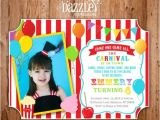 Carnival First Birthday Invitations 1000 Images About Backyard Carnival Circus On Pinterest