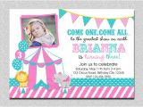 Carnival First Birthday Invitations Carnival Birthday Invitation 1st Birthday Carnival Birthday