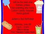 Carnival Party Invitation Wording 17 Best Images About Carnival Birthday Party On Pinterest