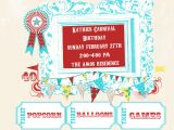 Carnival Party Invitation Wording Birthday Invites Free Printable Carnival Birthday Party