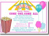 Carnival Party Invitation Wording Carnival Birthday Invitations Wording Invitations Card
