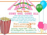Carnival Party Invitation Wording Carnival Invitations Template Invitation Template