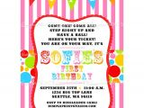 Carnival Party Invitation Wording Circus Carnival Birthday Printable Invite Dimple Prints Shop
