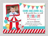 Carnival themed 1st Birthday Party Invitations Circus Birthday Invitation 1st Birthday Circus Party
