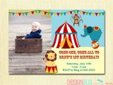 Carnival themed 1st Birthday Party Invitations Circus Carnival Birthday Invitation Circus Birthday