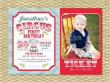 Carnival themed 1st Birthday Party Invitations Circus First Birthday Invitation Circus Birthday Invite