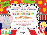 Carnival themed Baby Shower Invitations Baby Shower Invitations Best 10 Vintage Circus Baby