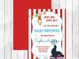 Carnival themed Baby Shower Invitations Carnival Circus themed Baby Shower Invitation Circus