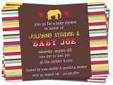 Carnival themed Baby Shower Invitations Circus themed Baby Shower Invitation