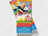 Carnival Ticket Birthday Party Invitations Carnival Ticket Invitations Circus Birthday Party by