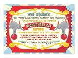 Carnival Ticket Birthday Party Invitations Circus or Carnival Ticket Birthday Invitation Zazzle