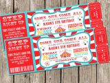 Carnival Ticket Birthday Party Invitations Free Printable Movie Ticket Invitations