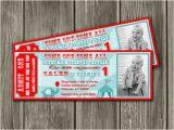 Carnival Ticket Birthday Party Invitations Printable Vintage Circus Ticket Birthday Invitation Kids
