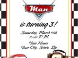 Cars Birthday Invitation Template Cars Birthday Invitation with Lightening Mcqueen by
