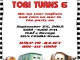 Cars Birthday Party Invitations Templates Disney Cars Birthday Invitation Free Template