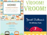 Cars themed Birthday Invitation Car Birthday Party theme thoughtfully Simple