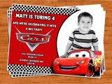 Cars themed Birthday Invitation Card Cars Birthday Invitation U Print by Ptycards On Etsy