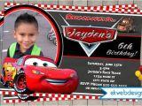 Cars themed Birthday Invitation Card Disney Cars Birthday Invitation Lightening Mcqueen