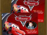 Cars themed Birthday Invitation Card Disney Cars Lightning Mc Queen Printable Birthday