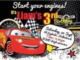 Cars themed Birthday Invitation Cars theme Party Invitations A Birthday Cake