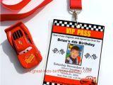 Cars themed Birthday Invitation Template Disney Cars Birthday Party Diy Vip Pass Cars Invitation