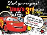 Cars themed Invitation Birthday Cars theme Party Invitations A Birthday Cake