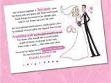 Cash Bridal Shower Invitations 25 X Wedding Wishing Well Poem Cards for Your Invitations
