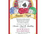 Casino Invites for Parties Casino Birthday Invitations Paperstyle