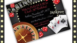 Casino Invites for Parties Casino Invitations Casino Night Casino Birthday