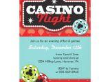 Casino Invites for Parties Casino Night Party Invitations Zazzle Com