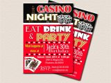 Casino Invites for Parties Casino theme Party Surprise Birthday Party Printable 30th