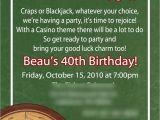 Casino Invites for Parties Greygrey Designs My Parties Casino 40th Birthday Party