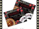 Casino Invites for Parties Printable Birthday Party Invitation Casino Night 9 00
