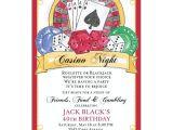 Casino Night Holiday Party Invitations Casino Birthday Invitations Paperstyle