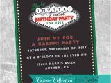 Casino Night Holiday Party Invitations Casino Birthday Invitations Paperstyle Printable Casino