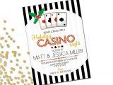 Casino Night Holiday Party Invitations Holiday Party Invitation Casino Holiday Party Casino Night