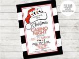 Casino Night Holiday Party Invitations Holiday Party Invitation Casino Holiday Party Casino