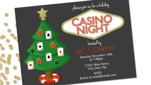 Casino Night Holiday Party Invitations Holiday Party Invitation Company Casino Holiday Party