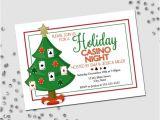 Casino Night Holiday Party Invitations Items Similar to Holiday Party Invitation Casino Holiday