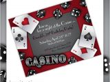 Casino Party Invitations Templates Free Items Similar to Casino Party Invitations Gamble Love