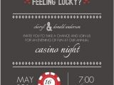 Casino Party Invitations Templates Free Red and Gray Feeling Lucky Dice Poker Night Invitation