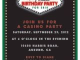 Casino theme Party Invitations Template Free Casino Birthdasy Party Invitation Printable Invitation by